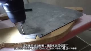 Homemade shield with the metal