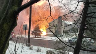 Scary Fire Started from Fallen Electrical Wire