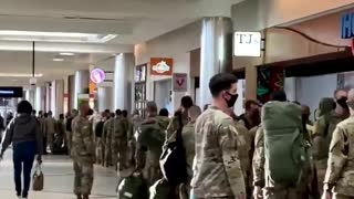 Army National Guard Arrives in Atlanta Georgia On Sunday Evening Ahead of January 6th, 2020.