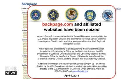 Advertising Website Backpage Seized by U.S. Law Enforcement