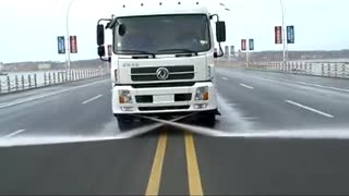 Road Sweeper washer  - Video