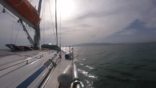 Wow Timelapse of a Yacht Sailing and sunset in Spain  - Video