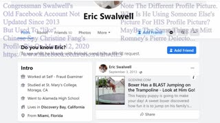 "Eric Swalwell's Old Facebook Account ""Liked"" Christine Fang's Picture March 12, 2020"