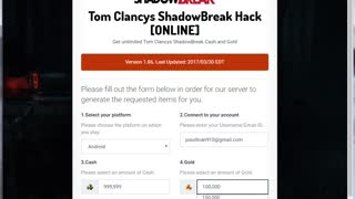 [WORKING] Tom Clancy's ShadowBreak Hack V1.2a - Video