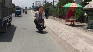 Doggy Piggyback Motorcycle Ride