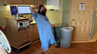 Expecting mother performs labor dance for her 8th pregnancy
