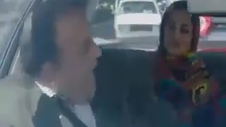 Couple arguing about their marriage in a taxi - Video