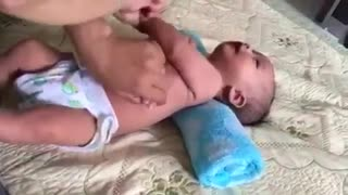 Massage instructions for 3 month old baby  - Video