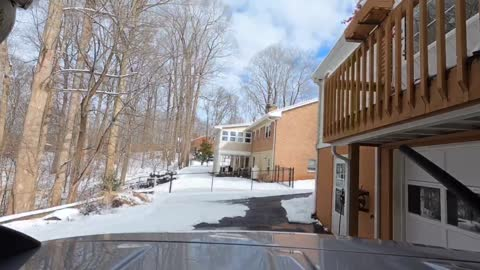 Time lapse of 3 days of melting snow