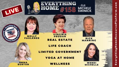 158 LIVE: Real Estate, Life Coach, Limited Government, Yoga At Home, Wellness **VALLEY FORGE**