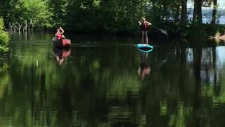 Memories of Summer 2020 Fun Paddle boarding Ontario Canada