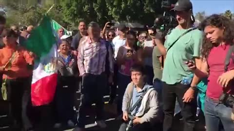 Mexican Protester —Trump Was Right, This Is An Invasion!