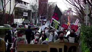 Anti-Olympics protesters march in Tokyo