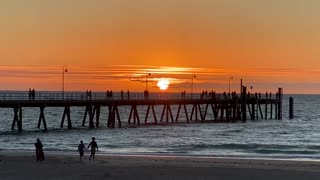 Sunset at Glenelg Beach, South Australia