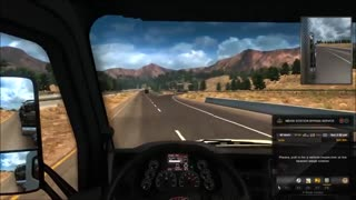 American Truck Simulator Reno To Barstow Relax n Drive with G27 steering wheel - Video