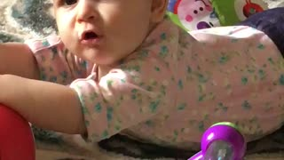 Dad asks baby if she's sick, baby gives hilarious response - Video