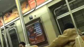 Subway guy dances to indian music while sitting down - Video