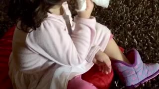 You're Ruining My Day Mom! Cute Toddler in Funny Conversation with Mom