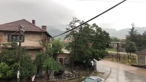 Thunder cought on camera in Prilep, Republic Macedonia