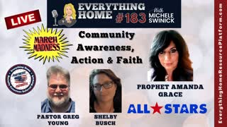 183 LIVE March Maskless Madness-Community Awareness, Action & Faith ALL STARS + PROPHET AMANDA GRACE