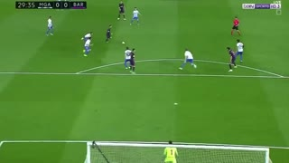 Messi amazing assist to Andre Gomes vs Malaga