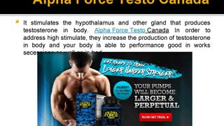 Alpha Force Testo Canada Reviews, Cost, Price and Free Trial - Video