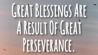 Great Perseverance - Video