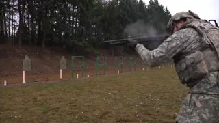 U.S. Military Firing Shotguns • M1014 JSCS & Mossberg 500 - Video