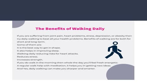 Frank Dilullo: Walking Improve Your Health