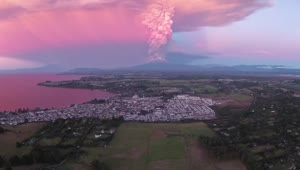 Stunning drone footage of erupting Chilean Volcano - Video