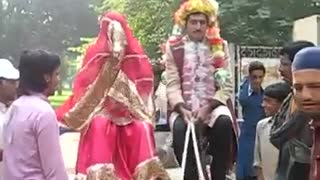 Villagers makes lots of fun with funny wedding style  - Video