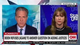 Wtf Jake Tapper grill Biden rep on Constitution.