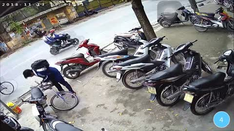 Kid Takes Nasty Spill After Bike Snaps