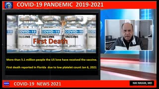 FIRST DEATH REPORTED AFTER RECEIVING COVID VACCINE JAN 2021 NIK NIKAM