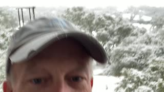 Snowing in Austin,Texas