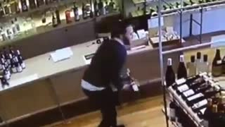 The Perfect Catch Caught On Security Camera