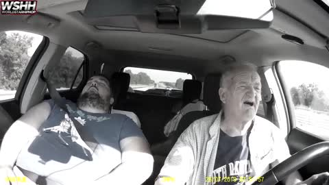 Elderly Man Almost Crashes His Car After Falling Asleep & Blames It On Another Driver!