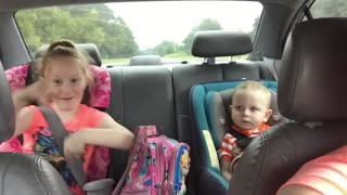Dance off in the back seat!