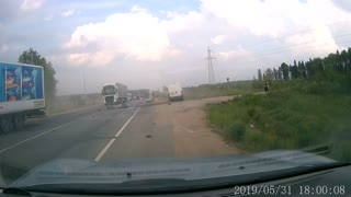 Impatient Driver Causes Intense Multi Vehicle Crash