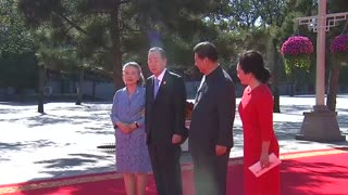 Chinese president welcomes world leaders for WW2 event - Video