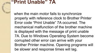 "How to fix Brother Printer Error code ""Print Unable"" 7A - Video"