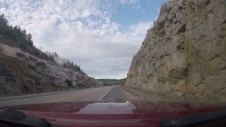 Close Call On The Trans Canada Highway In Ontario - Video