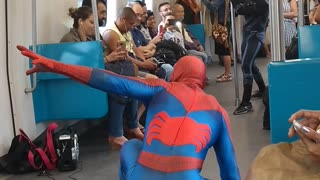 Spiderman on the Subway - Video