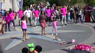 Dancing Flash Mob Joins Marriage Proposal At Disneyland - Video