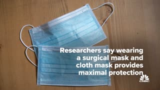 Dr Fauci says it's 'common sense' to wear two masks