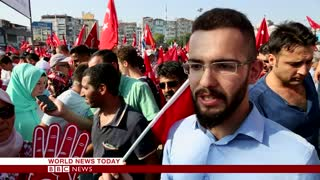 Turkey coup: Massive Istanbul rally hails Erdogan - BBC News - Video