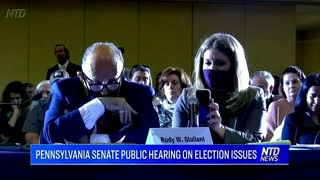 PA Senate Public Hearing On Election Fraud