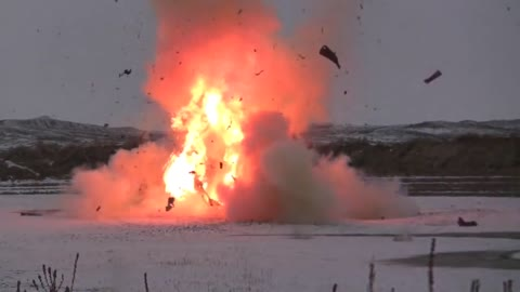 Blowing Up A Car With 50lbs. of Tannerite