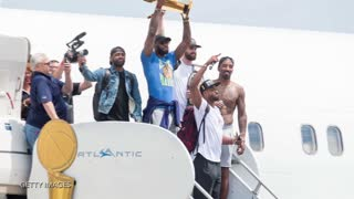 J.R. Smith Still Partying Shirtless Since NBA Finals - Video
