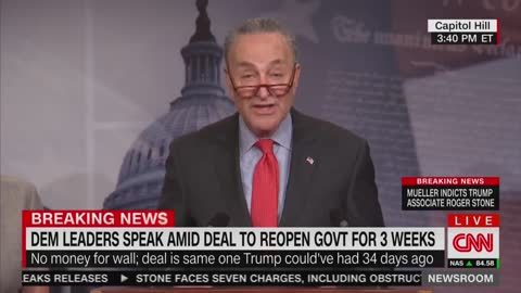 Schumer — Trump Agreed To OUR Request; Hopefully He Learned His Lession